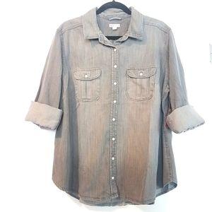 1X Merona Denim Shirt NWT - Long Sleeves